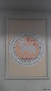 ehemaliges Deckengemälde Reproduktion aus LeinwandKirche Ilbeshausen