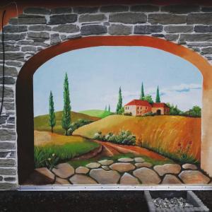 Wandmalerei Toskana, Außenbereich