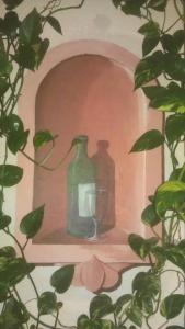 Wandmalerei Nische , Wohnbereich